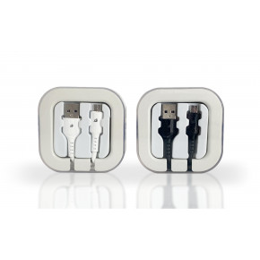 Micro USB Non-Braided Cable in Acrylic Box 2.1Amp mix-Colors