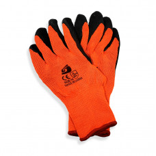 Orange Cotton gloves with Black Latex (pack of 10)