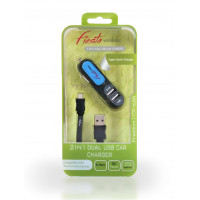 2 in 1 Dual Car Charger-Micro USB-V9 (3.1 Amp.)