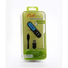 2 in 1 Car Charger-Micro USB-V9 (3.1 Amp.)