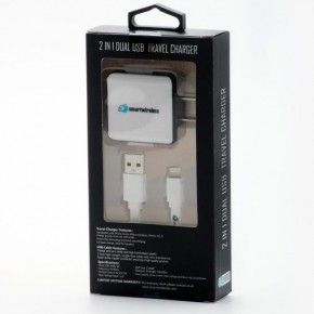 2 in 1 Dual Home Charger-iPhone (2.4 Amp.)