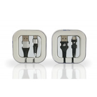 Micro USB Braided Cable in Acrylic Box 2.1Amp mix-Colors