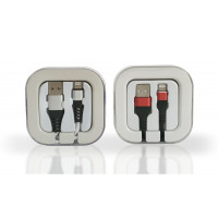 Premium iPhone Braided Cable 2.1 Amp. in Acrylic Box