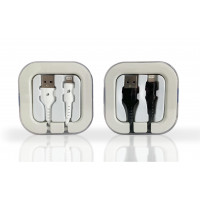 Premium iPhone Non-Braided Cable 2.1 Amp. in Acrylic Box