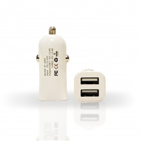Dual USB Car Charger 2.4 Amp (pack of 20)