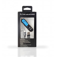 2 in 1 Dual USB Car Charger-Type C (3.1 Amp)