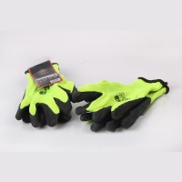 Green Cotton Gloves with Black Latex (pack of 10)